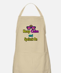 Crown Sunglasses Keep Calm And Spelunk On Apron