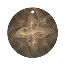 Flame Fractal Ornament (Round)