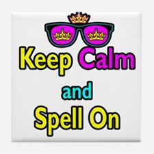 Crown Sunglasses Keep Calm And Spell On Tile Coast