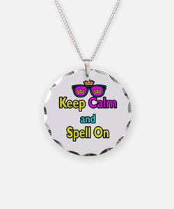 Crown Sunglasses Keep Calm And Spell On Necklace