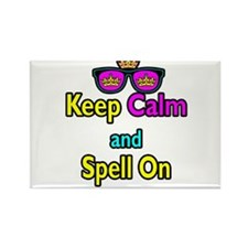 Crown Sunglasses Keep Calm And Spell On Rectangle