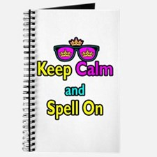 Crown Sunglasses Keep Calm And Spell On Journal
