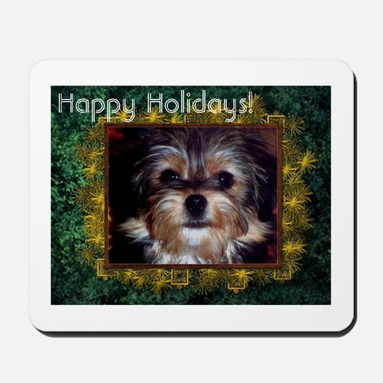Happy Holiday Shaggy Dog Mousepad