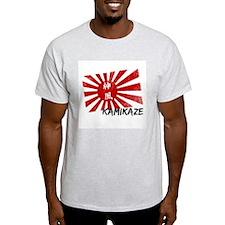 Kamikaze Vintage Japan Flag Ash Grey T-Shirt