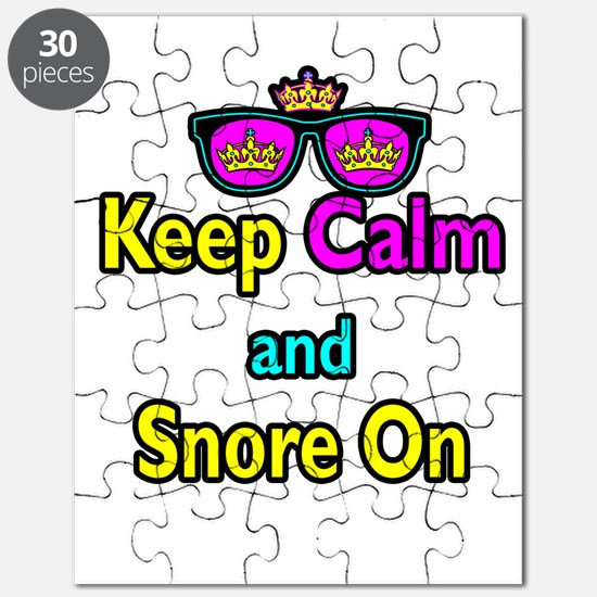 Crown Sunglasses Keep Calm And Snore On Puzzle