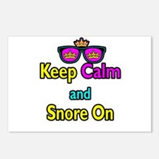 Crown Sunglasses Keep Calm And Snore On Postcards