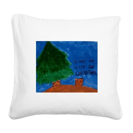What I got for Christmas Square Canvas Pillow