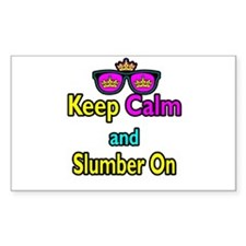 Crown Sunglasses Keep Calm And Slumber On Decal