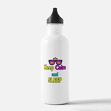 Crown Sunglasses Keep Calm And Sleep Water Bottle