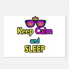 Crown Sunglasses Keep Calm And Sleep Postcards (Pa