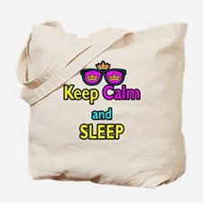 Crown Sunglasses Keep Calm And Sleep Tote Bag