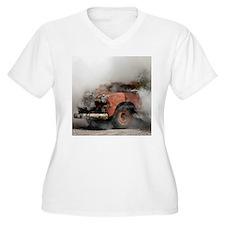 Burnout Pit Women's V-Neck Plus Size T-Shirt