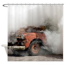 Burnout Pit Shower Curtain