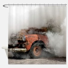 Burnout Pit Shower Curtain