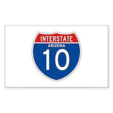 Interstate 10 - AZ Rectangle Decal