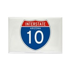 Interstate 10 - AZ Rectangle Magnet
