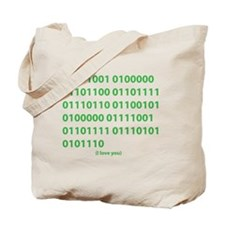 I LOVE YOU in Binary Code Tote Bag