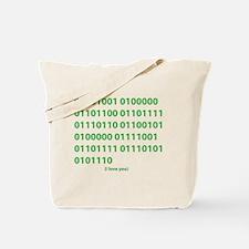 I LOVE YOU in Binary Code Tote Bag