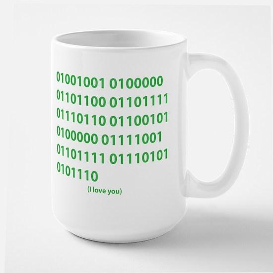 I LOVE YOU in Binary Code Mug