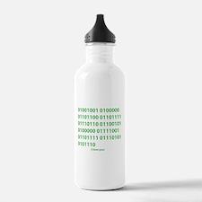 I LOVE YOU in Binary Code Water Bottle