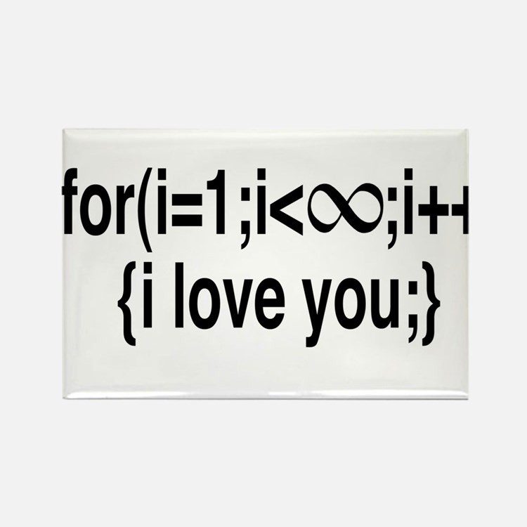 I Love You....For Ever! Rectangle Magnet