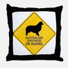 Australian Shepherd On Board Throw Pillow