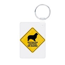 Australian Shepherd On Board Keychains