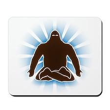 It's bigfoot at peace, doing yoga, meditating Mous