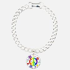 Rainbow Peace Sign Bracelet