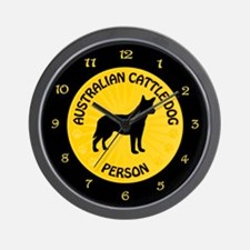 Cattle Dog Person Wall Clock