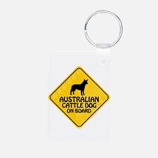 Cattle Dog On Board Keychains