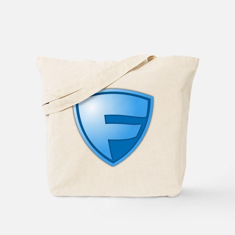 Super F Super Hero Design Tote Bag
