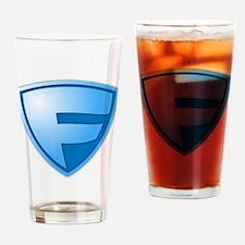 Super F Super Hero Design Drinking Glass