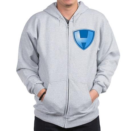 Super H Super Hero Design Zip Hoodie