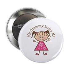 "Grammy Loves Me 2.25"" Button"