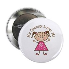 "Granny Loves Me 2.25"" Button"