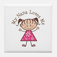 Nana Loves Me Tile Coaster