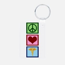 Peace Love Medicine Keychains
