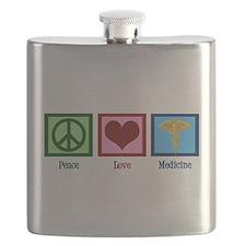 Peace Love Medicine Flask