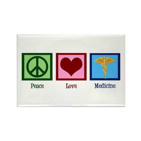 Peace Love Medicine Rectangle Magnet