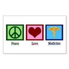 Peace Love Medicine Decal