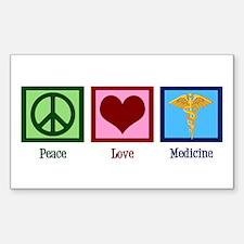 Peace Love Medicine Decal