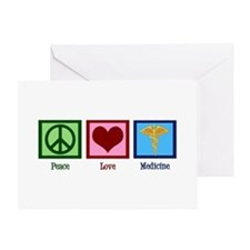 Peace Love Medicine Greeting Card