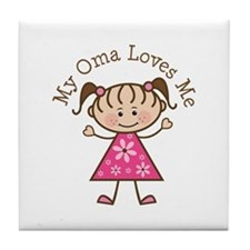 Oma Loves Me Tile Coaster