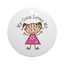 Oma Loves Me Ornament (Round)