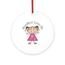 MomMom Loves Me Ornament (Round)