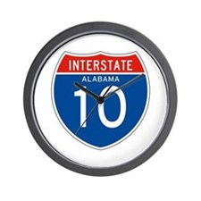 Interstate 10 - AL Wall Clock