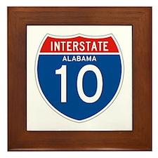 Interstate 10 - AL Framed Tile