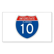 Interstate 10 - AL Rectangle Decal