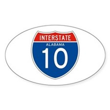 Interstate 10 - AL Oval Decal